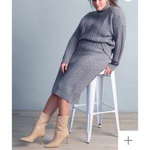 NWT Eloquii Heather Grey Sweater Skirt sz 18/20